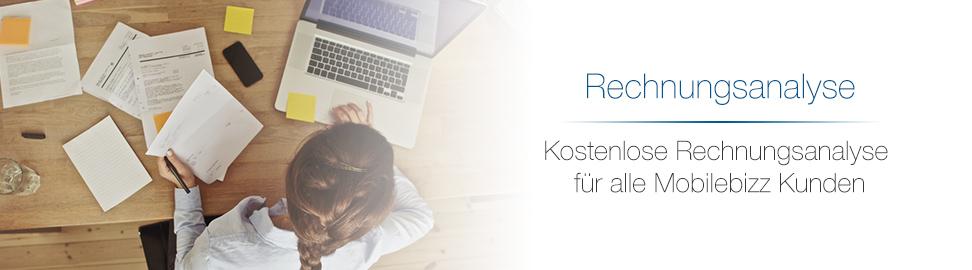 Kostenlose Rechnungsanalyse für alle Kunden bei MobileBizz KG - better connected!